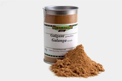 Galgant gemahlen (Alpinia galanga)