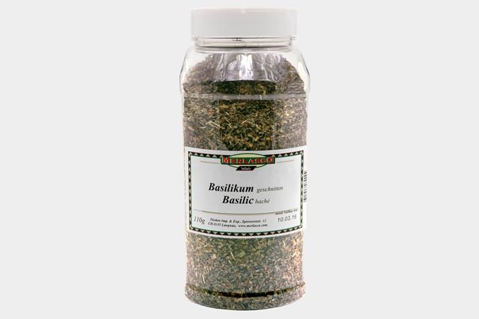 Basilikum geschnitten 110g Dose für Gastronomie (Preis auf Anfrage)