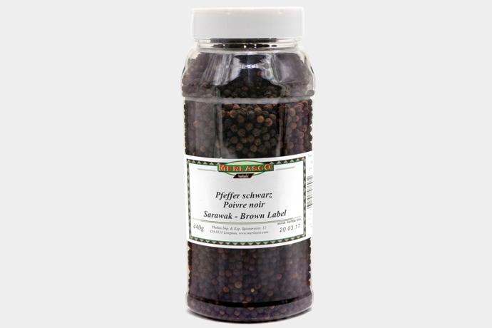 Pfeffer schwarz - Sarawak-Brown Label ..