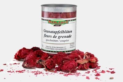 Granatapfelblüten geschnitten
