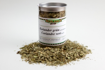 Korianderblätter geschnitten (Coriandrum sativum)