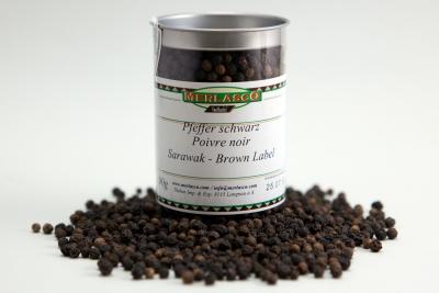 Pfeffer schwarz - Sarawak/Brown Label (Piper nigrum)