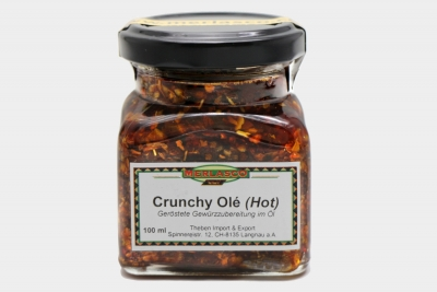 Crunchy Olé (Hot) geröstete Gewürzzubereitung in Öl