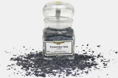 Pyramiden Salz, schwarz, grob