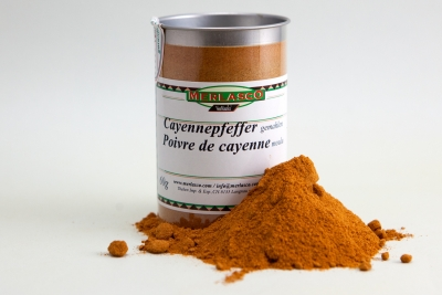 Cayennepfeffer gemahlen (Capiscum fructescens)